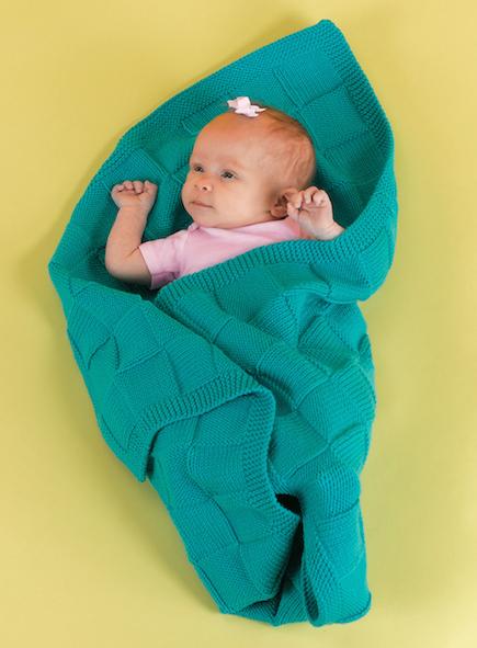 Baby Blocks Blanket (Free Knitting Pattern)