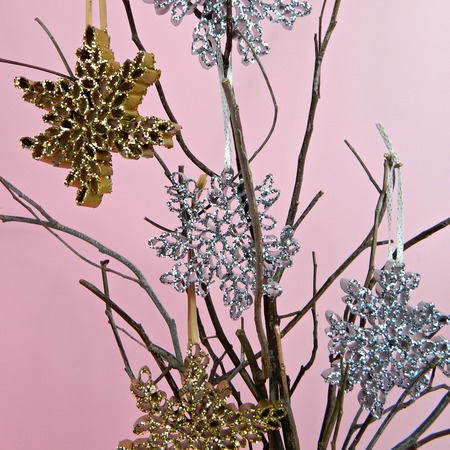 Recycled Magazine Snowflake Ornaments