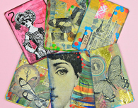 Sticky Foam Rubber Stamps and Artist Trading Cards