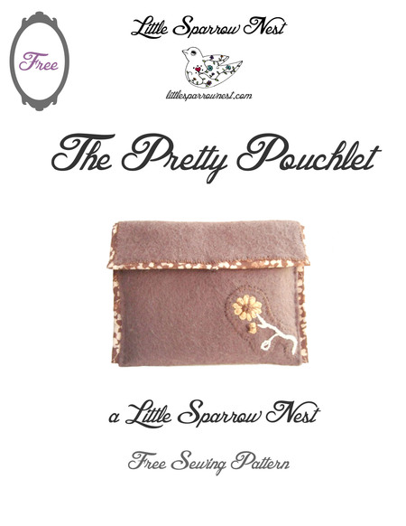 Pretty Pouchlet Free PDF Pattern and Tutorial