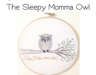 Sleepy Owl Free Hand Embroidery Design