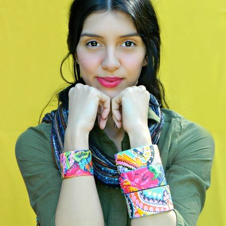Dimensional Fabric Bracelets