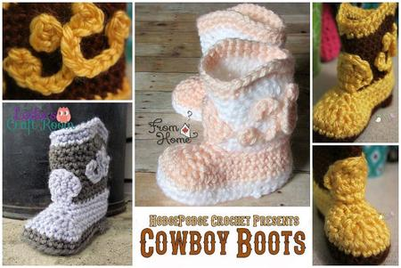 Free Crochet Cowboy Boots For Baby Craftfoxes
