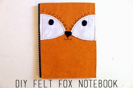 Felt Fox Notebook Cover