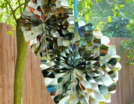 Recycled Magazine Party Decorations