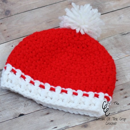 Free Preemie Christmas Pom Pom Hat Pattern