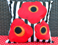 Pretty Poppy Pillows