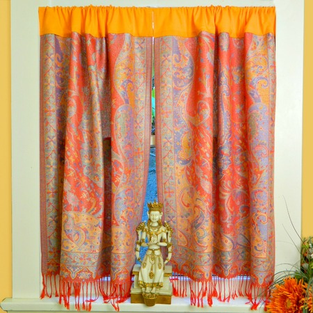 No Sew Boho Scarf Curtains