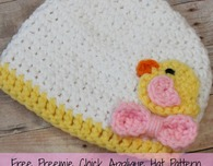 Preemie Chick Applique Hat Pattern