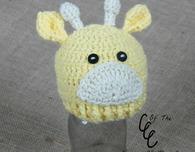 Preemie Baby Giraffe Hat