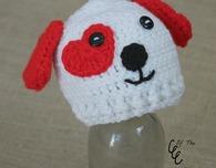 Preemie Valentines Puppy Hat