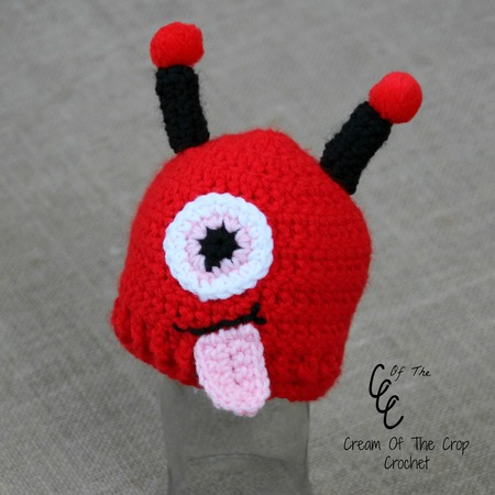 Preemie Valentines Monster Hat