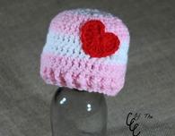 Preemie Valentines Day Hat