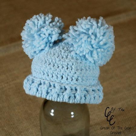 Preemie Double Pom Pom Hat