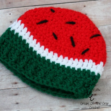 Preemie Watermelon Hat