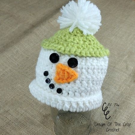 Preemie Snowman Pom Pom Hat