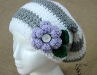 Flower Slouchy Hat