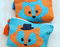 Fully Lined Fox Purse