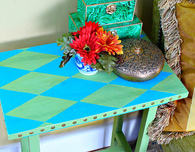 No Nails Harlequin Table
