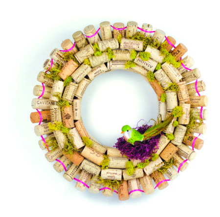 Whimsical Wine Cork Wreath