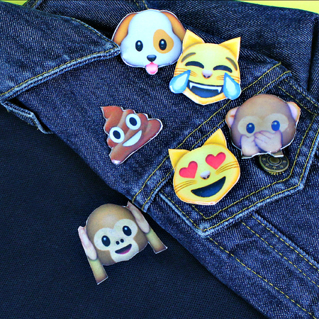 Emoji Polo and Pins DIY