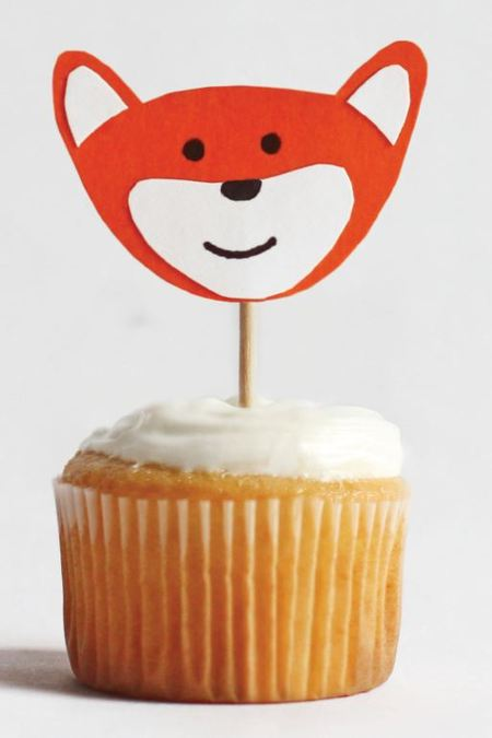 Mini Fox Cupcake Topper