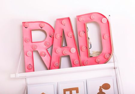 DIY Marquee Sign Bedroom Decor