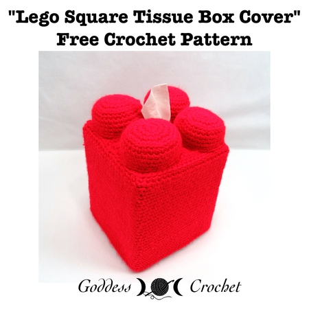 Lego Square Tissue Box Cover