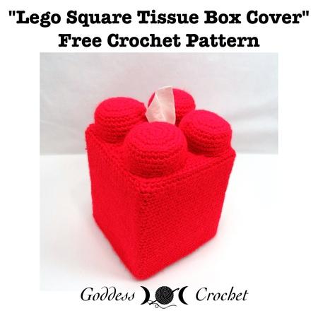 Lego Square Tissue Box Cover