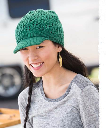Knitting Pattern: Cascading Leaves Hat