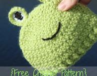 Preemie/Newborn Frog Hat