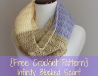 Infinity Blocked Scarf