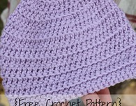 Front Loop Newborn Hat