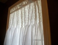 DIY Shirred Window Curtain