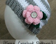 4-12 Year Flower Slouchy Hat