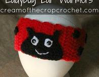 Ladybug Ear Warmers