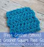 Double Crochet Square Face Scrubbie