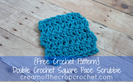 Double Crochet Square Face Scrubbie