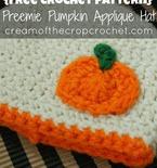 Preemie/Newborn Pumpkin Applique Hats