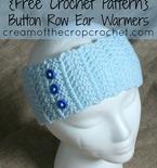 Button Row Ear Warmers