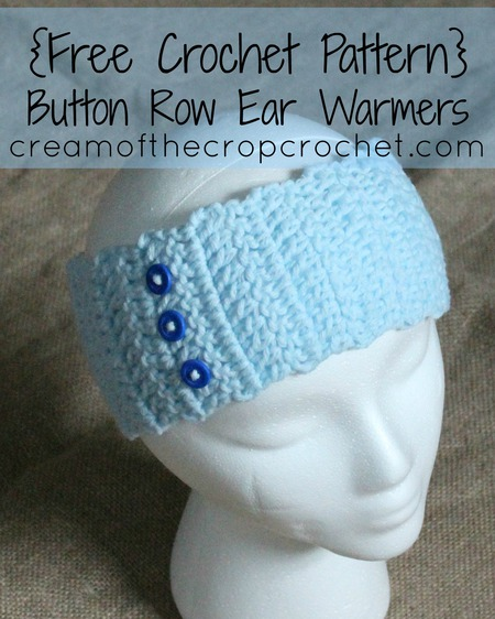 Button Row Ear Warmers