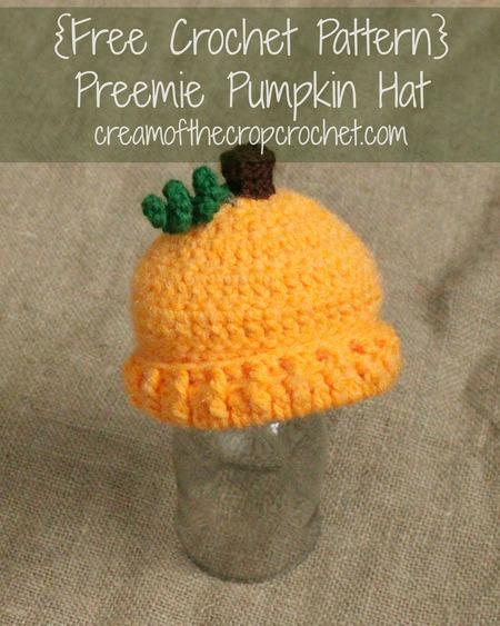 Preemie/Newborn Pumpkin Hats
