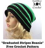 Graduated Stripes Beanie