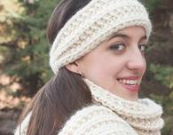 Super Bulky Mistake Stitch Scarf and Headband Pattern