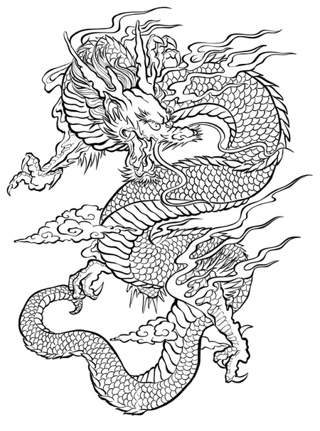 Free Dragon Coloring Page to Print (Adult Coloring)