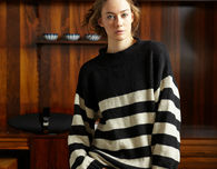 Oversized Striped Comfy Sweater (Free Knitting Pattern)