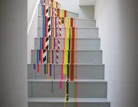 Washi Tape Decorated Stairs
