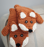 Crocheted Children's Fox Mittens (free pattern)