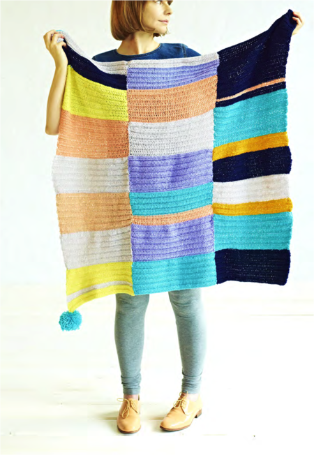 Stash-Busting 'Attack the 'Block' Crochet Blanket (Free Pattern)