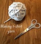 Making t-shirt yarn: a tutorial